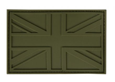 British Union Flag Bag Velcro Patch Olive Green